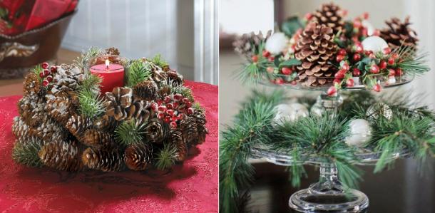 Centros de Natal em Material Reciclado