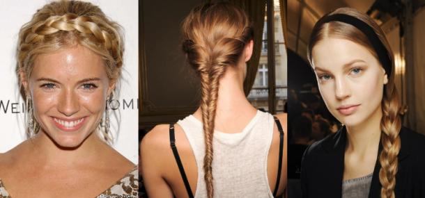 penteados para cabelos compirdos - tranças