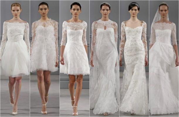 vestidos de noiva com manga rendada