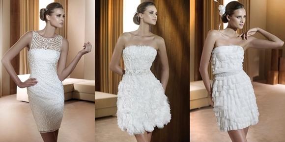 Vestidos de Noiva Curtos - pronovias